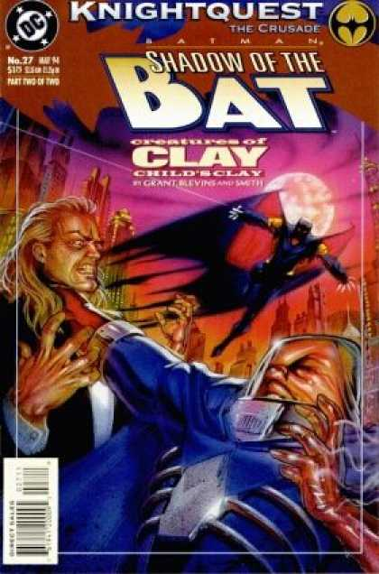 Batman: Shadow of the Bat 27 - Batman - Azrael - Clayface - Knightquest - Clay - Brian Stelfreeze