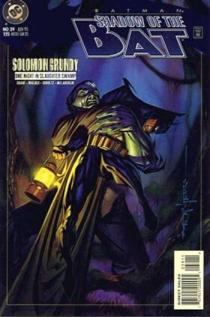 Batman: Shadow of the Bat 39 - Dc Comics - Solomon Grundy - Lantern - Cape - Trees - Brian Stelfreeze