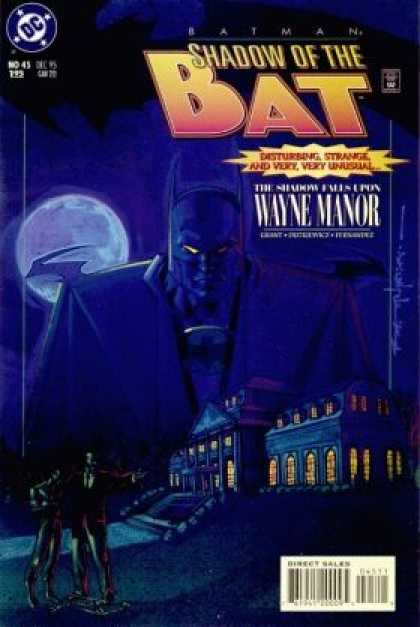 Batman: Shadow of the Bat 45 - Bruce Wayne - Wayne Manor - Dark Knight - Full Moon - Mask - Brian Stelfreeze