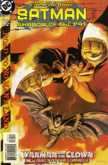 Batman: Shadow of the Bat 80 - Batman - Road To No Mans Land - Flipbook - Waxman And The Clown - Flying Through The Sky