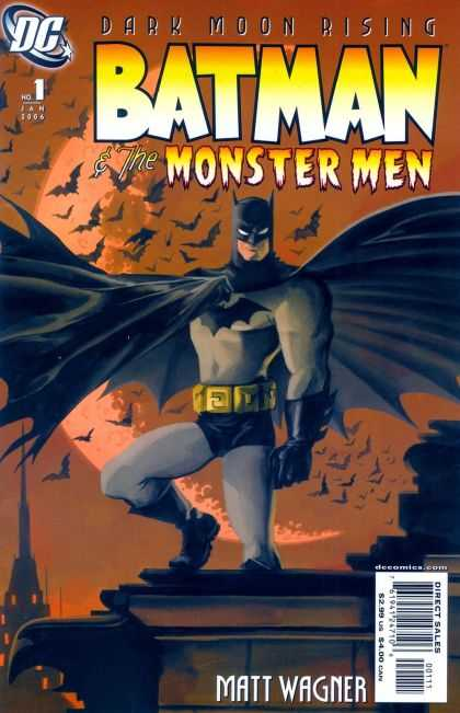 Batman & the Monster Men 1 - Dc - Dark Moon Rising - Bats - Rooftop - Matt Wagner - Matt Wagner