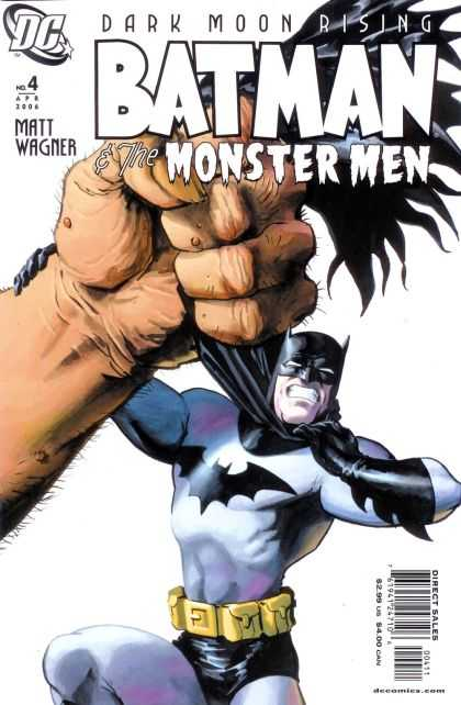 Batman & the Monster Men 4 - Fist - Utility Belt - Dark Moon - Choking - Black Gloves - Dave Stewart, Matt Wagner