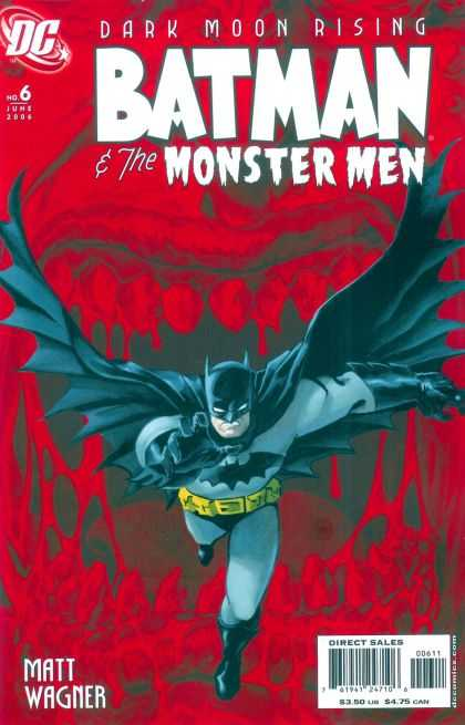 Batman & the Monster Men 6 - Matt Wagner - Mouth - Teeth - Batman - Running - Dave Stewart, Matt Wagner