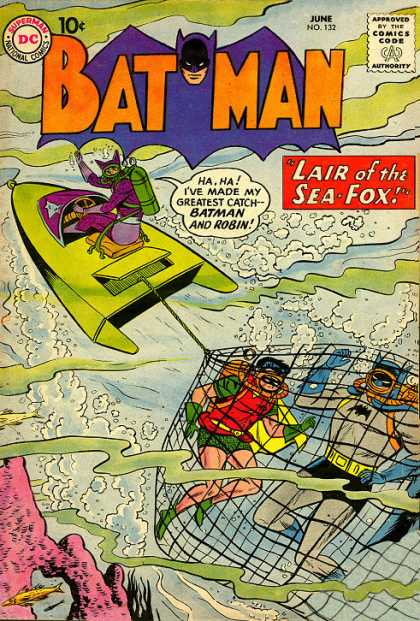 Batman 132 - Dc - Superman - National Comics - Approved By The Comics Code Authority - June - Sheldon Moldoff