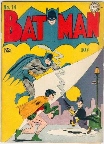 Batman 14 - Batman - Robin - Penguin - Batman Comics - Gotham City - Jerry Robinson