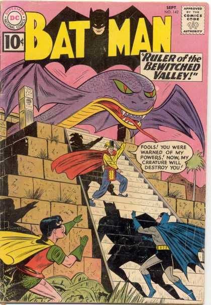 Batman 142 - 142 - Bewitched Valley - Dragon - Aztec - Mexican - Sheldon Moldoff