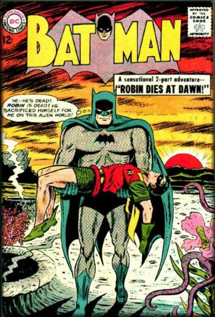Batman 156 - Robins Death - Alien World - Outer Space - Superheroes - Caped Crusader - Sheldon Moldoff