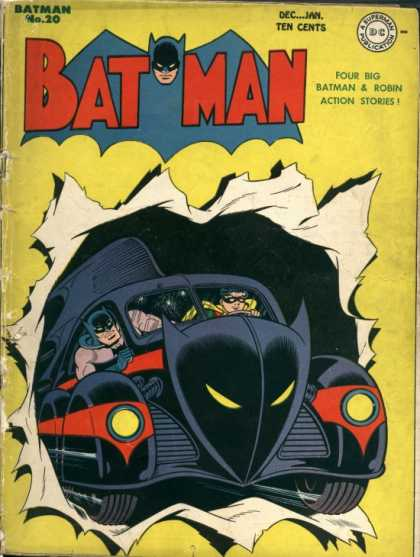 Batman 20 - No 20 - December-january - Four Big Batman And Robin Action Stories - Robin - Batmobile