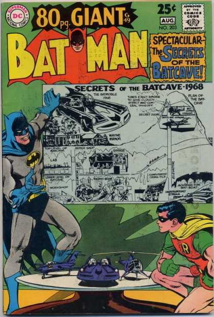 Batman 203 - Batcave - Secrets - Robin - Spectacular - Bat Car - Neal Adams