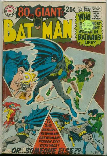 Batman 208 - One Time Chance - Doller Dreamer - Love Vs Money - Its A Short Story - War Of Fame - Nick Cardy