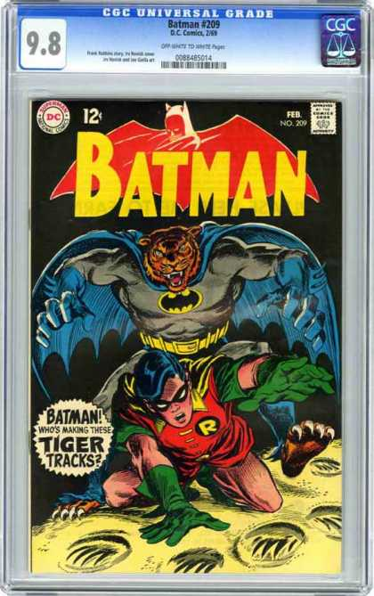 Batman 209 - Robin - Tiger - Tracks - Danger - Peril