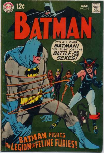 Batman 210 - Battle - Costume - Superhero - Women - The Legion Of Feline Furies - Neal Adams