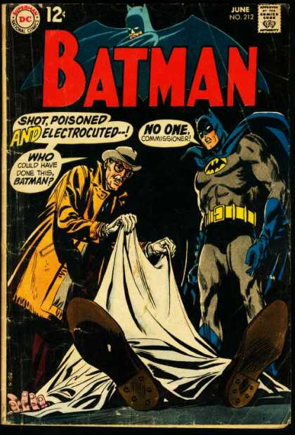 Batman 212 - Commissioner - Shot - Poisoned - Electrocuted - Corpse