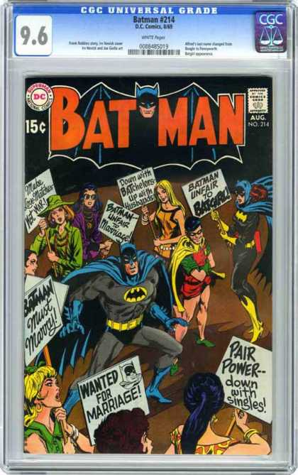 Batman 214 - Dc Comics - Cgc Universal Grade - Aug No 214 - Bat Man - Robin