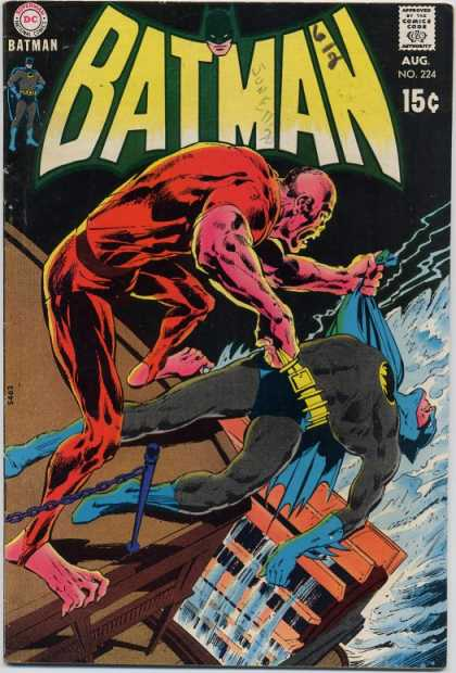 Batman 224 - August - Dc - Superhero - 15 Cents - Water - Neal Adams
