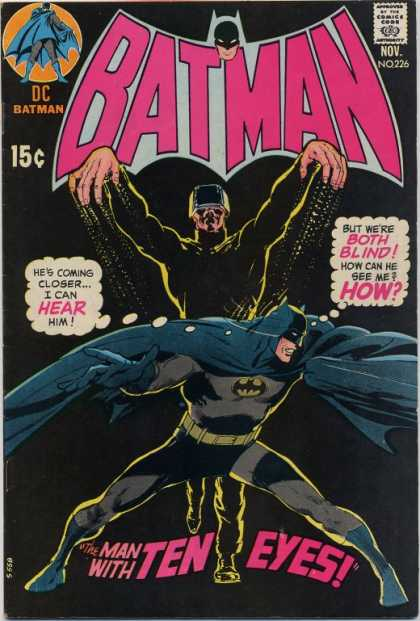 Batman 226 - Hear - Blind - Man - Eyes - Attack - Neal Adams
