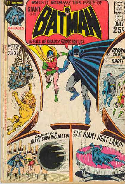 Batman 228 - Batman - Netted In The Jungle - Giant Bowling Alley - Giant Heat Lamp - Drown - Curt Swan, Murphy Anderson