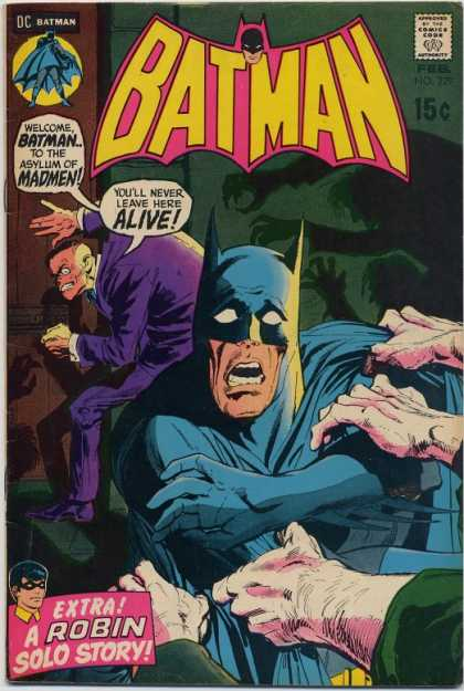 Batman 229 - Dc Comics - Robin Solo Story - Asylum - Sanitarium - Batman Captured - Dick Giordano, Neal Adams