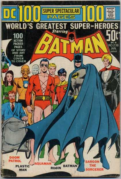 Batman 238 - Super Hero - Robin - Action Packed - Pow - Neal Adams