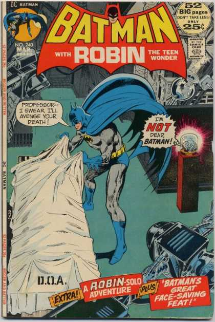 Batman 240 - Machine - White Sheet - Death - Talking Brain - Lab - Dick Giordano, Neal Adams