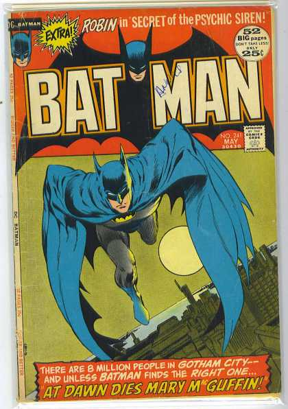 Batman 241 - Full Moon - Building - Nighttime - Gotham City - Mary Mcguffin - Bernie Wrightson, Neal Adams