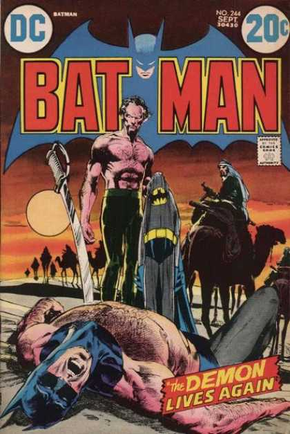 Batman 244 - Dc - Sept - Sword - Desert - Camel - Neal Adams