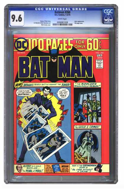 Batman 260 - Joker - Catwoman - 60 Cents - 100 Pages - 260 - Nick Cardy