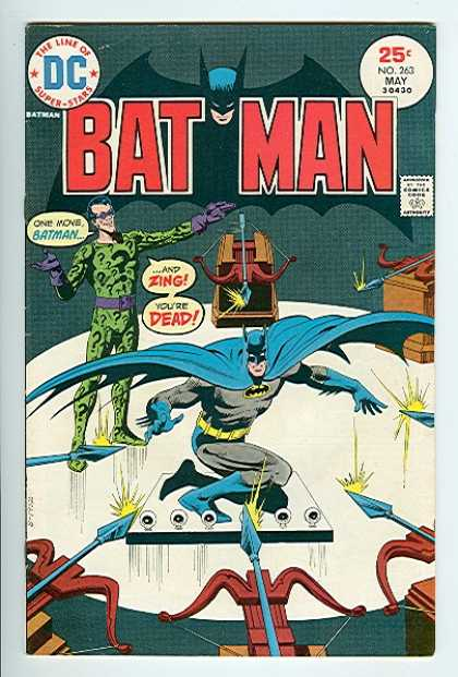 Batman 263 - Riddler - Arrows - Surrounded - Bows - No 263 May - Dick Giordano