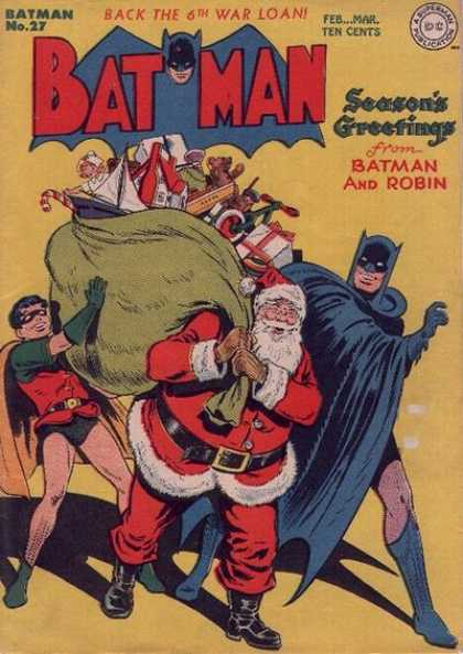 Batman 27 - Seasons Greetings - Santa - Christmas - Robin - Toys