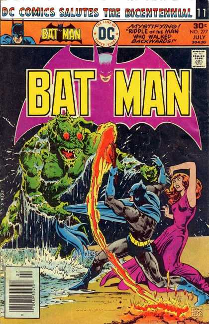 Batman 277 - Purple Gown - Green Monster - Red Eyes - Lava - Sea Creature