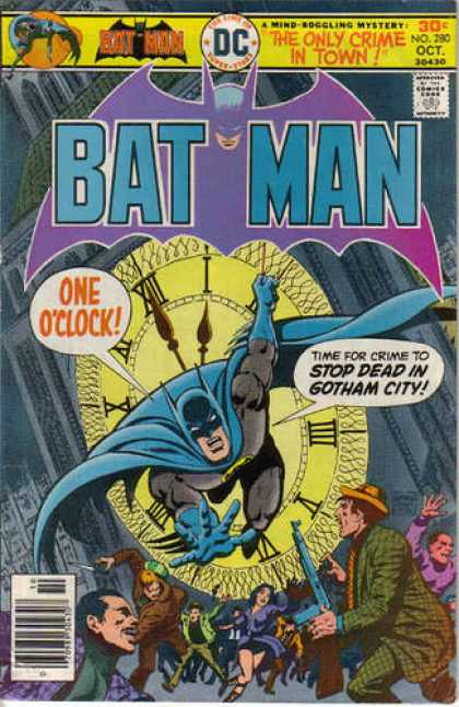 Batman 280 - Batman - One Oclock - The Only Crime In Town - The Stopper - Wheres Robin