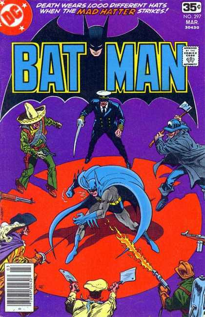 Batman 297 - Mad Hatter - Death Wears 1000 Different Hats - Cleavers - Mexican Hat - Captain Outfit