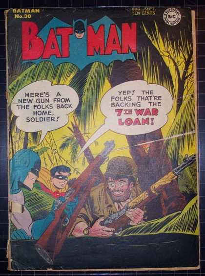 Batman 30 - Soldier - 7th War Loan - Robin - Jungle - Guns