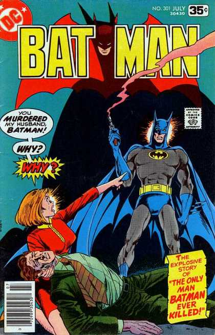 Batman 301 - Murdered - Smoking Gun - Why - Husband - Dead Man - Jim Aparo
