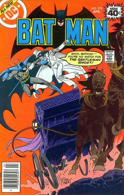 Batman 310 - Dc - No 310 - The Gentleman Ghost - Runaway Carriage - Joe Kubert