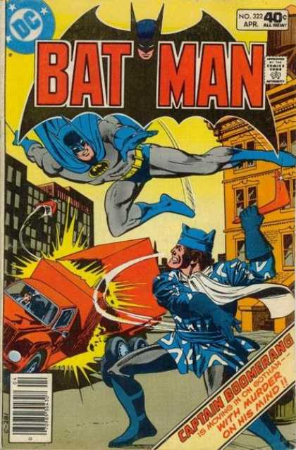 Batman 322 - Superhero - Costume - Battle - Truck - Buildings - Dick Giordano, Ross Andru