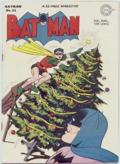 Batman 33 - Magazine - Robin - Christmas Tree - Holiday - Ornaments