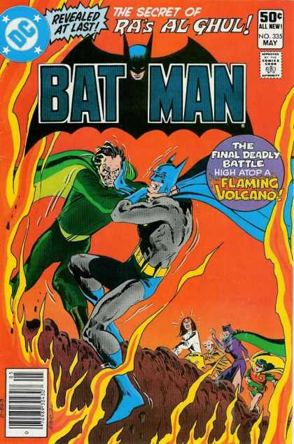 Batman 335 - Catwoman - Cliff - Volcano - Fire - Fighting - Jim Aparo