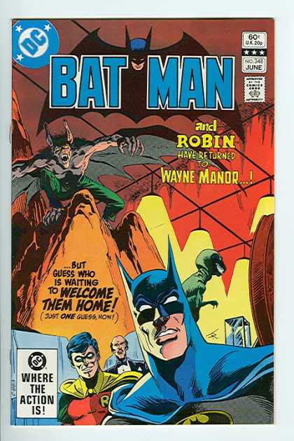 Batman 348 - The Dark Knight - Wayne Manor - Alfred - Robin - Bat Cave - Jim Aparo