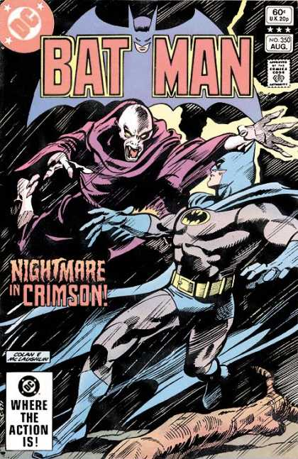 Batman 350 - Where The Action Is - Nightmare In Crimson - Ghost - Laughlan - Night - Gene Colan