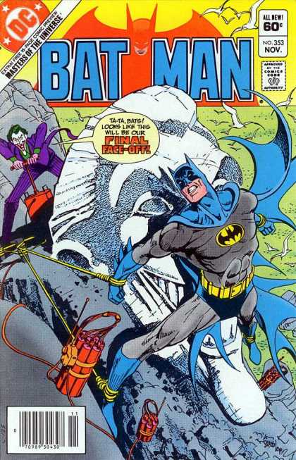 Batman 353 - Batman - Joker - Dynamite - Rock Face - Purple Suit