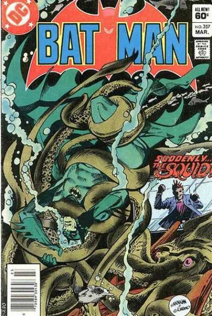 Batman 357 - March - Water - Batman - Tentacles - Squid