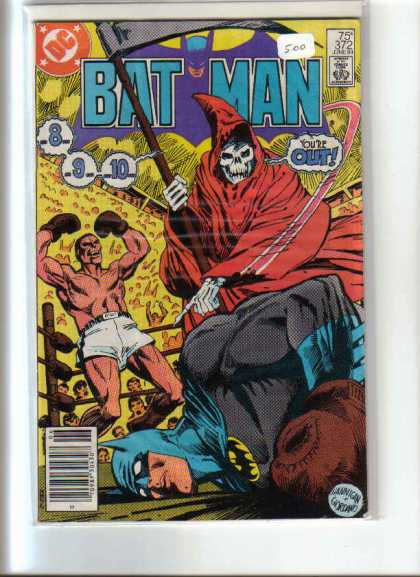 Batman 372 - Boxing - Ring - Grim Reaper - Scythe - Crowd - Dick Giordano