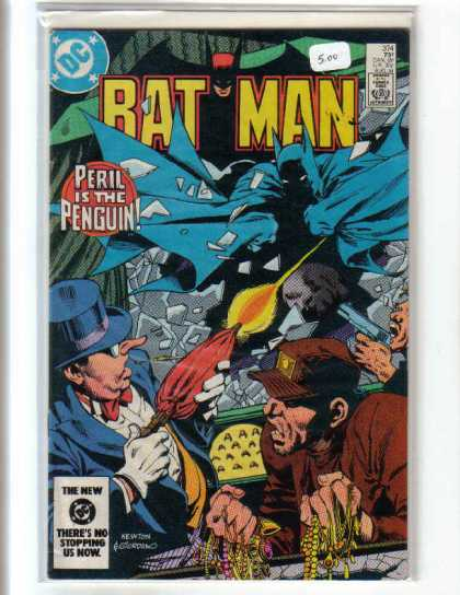 Batman 374 - Dc - Dc Comics - Batman - Penguin - Fight - Dick Giordano