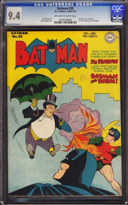 Batman 38 - The Penguin - Batman And Robin - Umbrella - Fire - Buildings