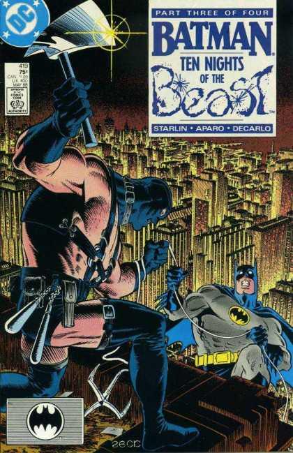 Batman 417, 418, 419, 420 (1988): Hi Grade 4 issue set - Ten Nights of the Beast