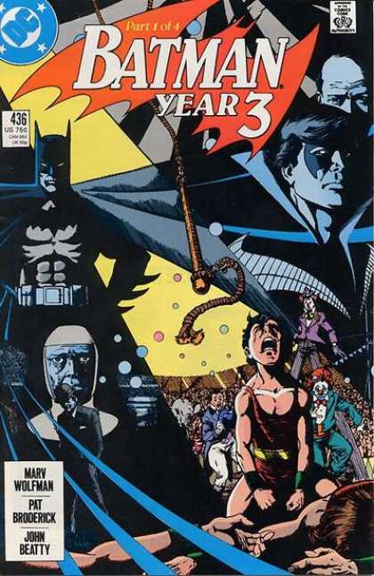 Batman 436 - Dick Grayson - Death Of Parents - Boy Crying - Marv Wolfman - Circus - George Perez