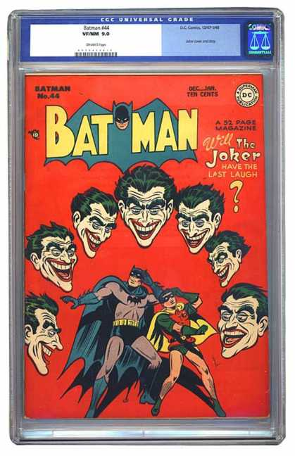 Batman 44 - Batman - The Joker - The Last Laugh - Batman And Robin - Joker Laughing