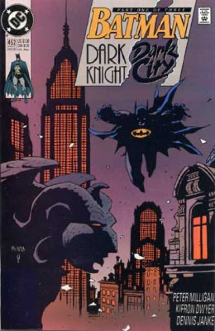 Batman 452 - Dark Knight - Dark City - Dc - Gargoyle - Building - Mike Mignola