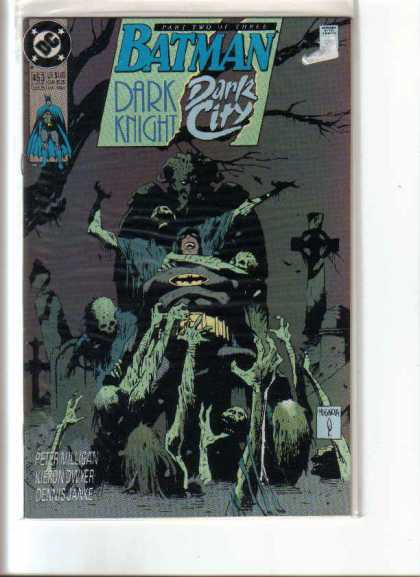 Batman 453 - Dark Knight - Dark City - Graveyard - Zombies - Skeletons - Mike Mignola